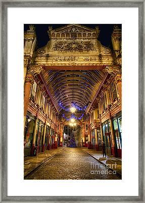 Leadenhall Christmas Lights Framed Print