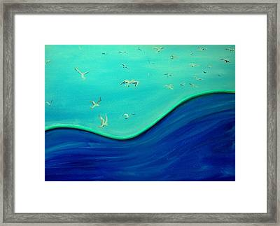 Leader Of The Flock Center Framed Print by Lynda McDonald