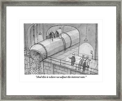 Leading A Federal Reserve Tour Group Framed Print