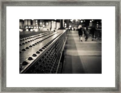 Leading Across Framed Print by Melinda Ledsome