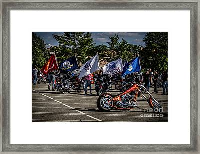Framed Print featuring the photograph Leading The Way by Eleanor Abramson