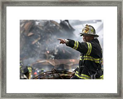 Leading Through Chaos Framed Print by L O C