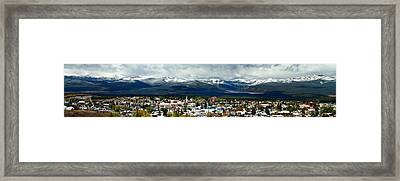 Leadville Autumn Panorama Framed Print by Jeremy Rhoades