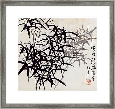 Leaf A Framed Print by Rang Tian