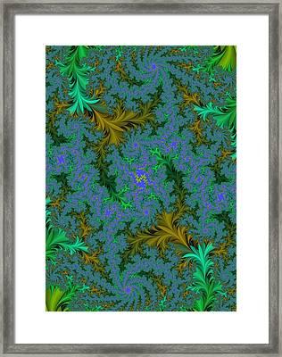 Leaf Abstract Framed Print by Paul Sale Vern Hoffman
