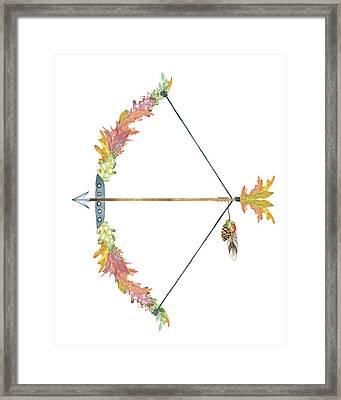 Leaf Bow And Arrow Framed Print