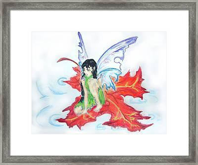Leaf Fairy Framed Print