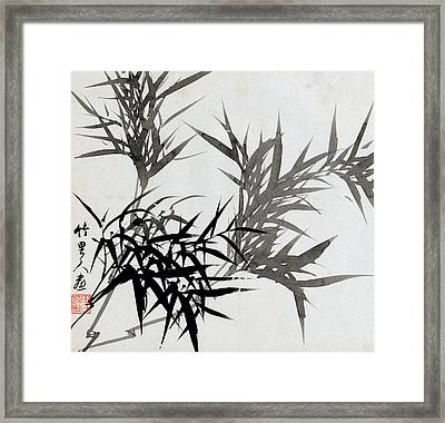 Leaf H Framed Print by Rang Tian