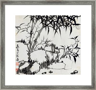 Leaf I Framed Print by Rang Tiang