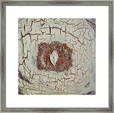 Leaf In Winter Framed Print