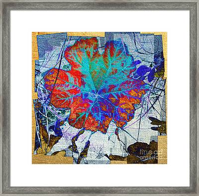 Framed Print featuring the mixed media Leaf   by Irina Hays