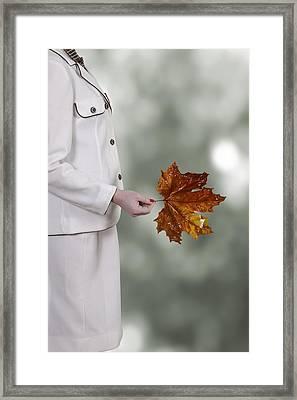 Leaf Framed Print by Joana Kruse