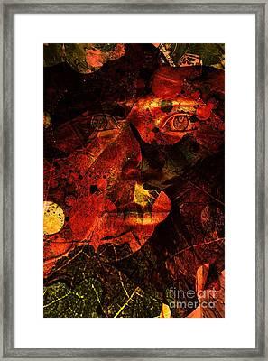 Leaf Man Framed Print by Elizabeth McTaggart