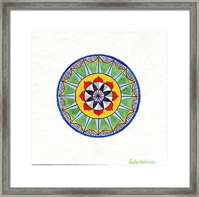 Leaf Mandala Framed Print by Silvia Justo Fernandez