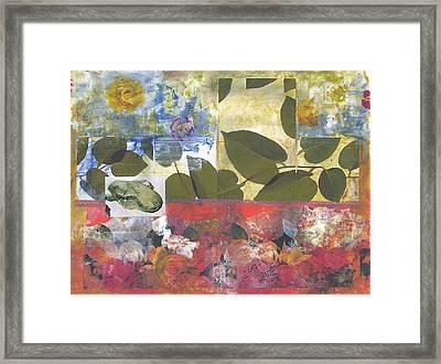 Leaf Of Life Framed Print by Gloria Von Sperling