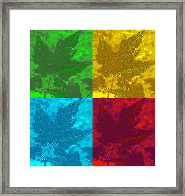 Leaf Pop Art Framed Print by Barbara McDevitt
