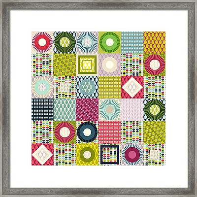 Leaf Squares Framed Print by Sharon Turner