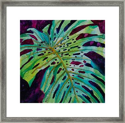 Leaf Framed Print by Terry Holliday