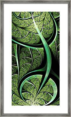 Leaf Texture Framed Print by Anastasiya Malakhova