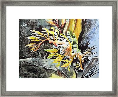 Leafy Dragon Framed Print