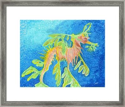 Leafy Seadragon Framed Print by Tanya Hamell