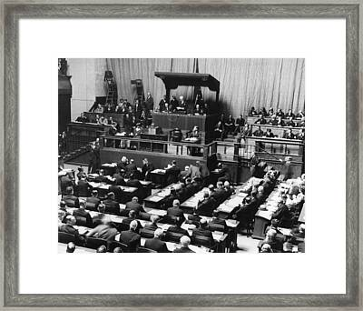 League Of Nations, 1924 Framed Print by Granger