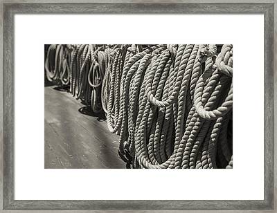 League Of Rope Black And White Sepia Framed Print by Scott Campbell