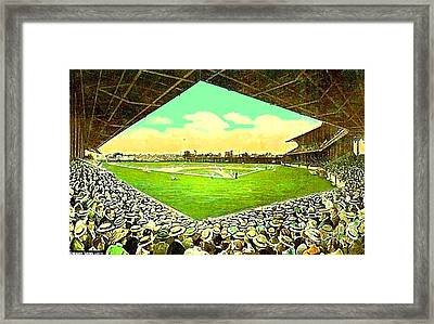 League Park Stadium In Cleveland Oh Around 1915 Framed Print