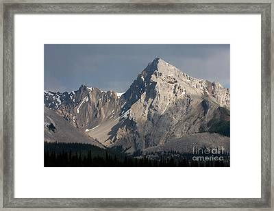 Framed Print featuring the photograph Leah Peak Canada by Chris Scroggins