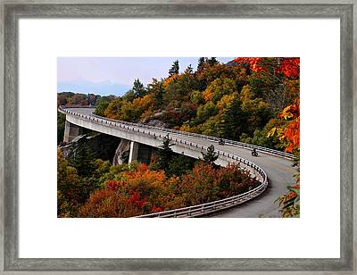 Lean In For A Ride Framed Print
