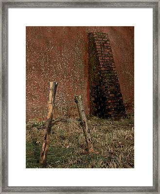 Lean Into It Framed Print