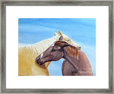 Lean On Me Framed Print by Andrea Timm