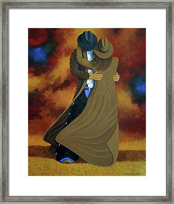 Lean On Me Framed Print by Lance Headlee