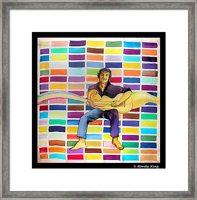Lean On To Me Framed Print by Nandy King