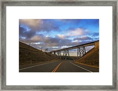 Lean-to Bridge Framed Print by Nathan Anglin