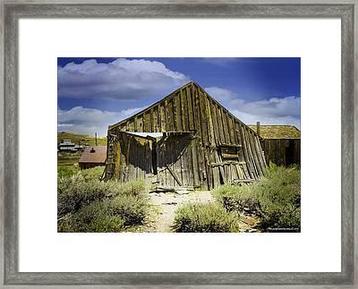Leaning Barn Of Bodie California Framed Print by LeeAnn McLaneGoetz McLaneGoetzStudioLLCcom