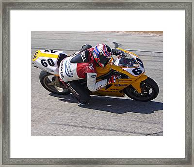 Framed Print featuring the pyrography Leaning Into Speed by Shoal Hollingsworth