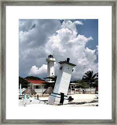 Leaning Lighthouse Of Mexico Framed Print by Farol Tomson