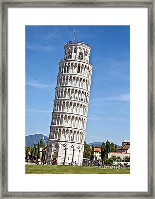 Leaning Tower Of Pisa Framed Print