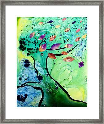 Leaning Tree Framed Print