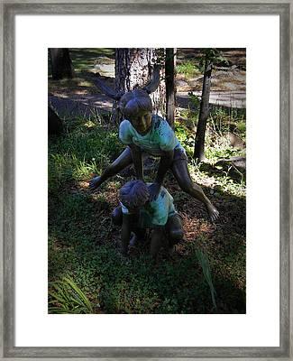 Leap Frog Framed Print by Frank Wilson