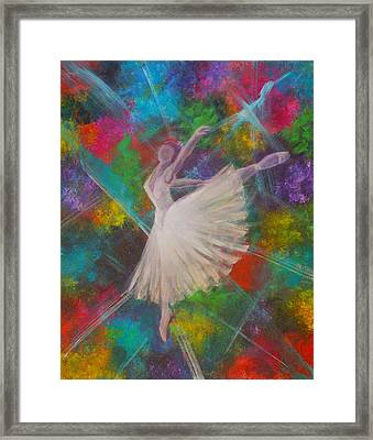 Leap Into Color Framed Print by The Art With A Heart By Charlotte Phillips