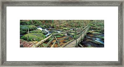 Leap Of Faith Broken Bridge, Becky Framed Print by Panoramic Images