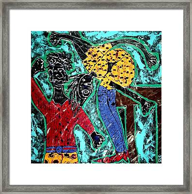 Framed Print featuring the painting Leap Of Faith by Cleaster Cotton