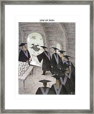 Leap Of Faith Framed Print by John O'Brien
