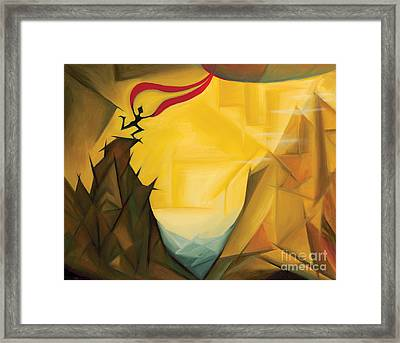 Leap Of Faith Framed Print by Tiffany Davis-Rustam