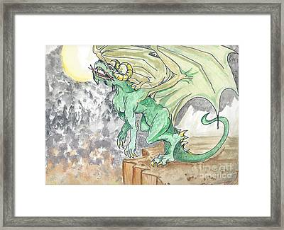 Leaping Dragon Framed Print