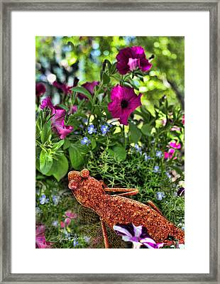 Leaping Lizards Framed Print