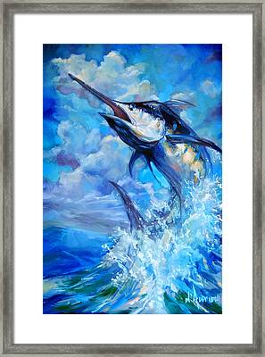 Leaping Marlin Framed Print