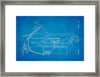 Lear Motorola Car Radio Patent Art 1934 Blueprint Framed Print by Ian Monk